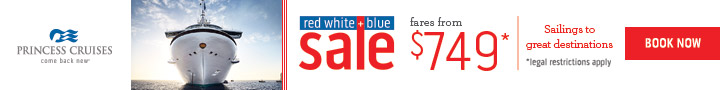 Princess Cruises Red White and Blue Sale 2017